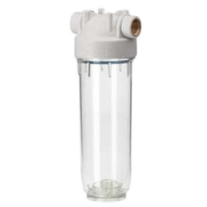 "Osmio Premium 10"" Clear Water Filter Housing 1/2"" Female BSP Brass"