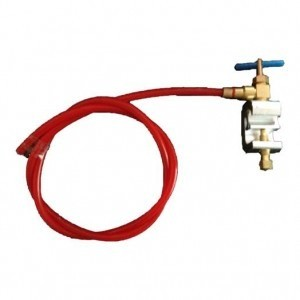 "Mains Water Clamp Self-Piercing Saddle Valve with 1/4"" (6mm) Tubing"