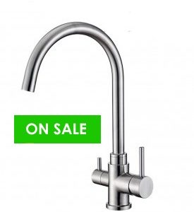 Osmio Bella 304 Stainless Steel 3-Way Tap