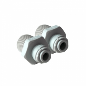 "1/4"" Push Fit to 1/2"" Male Straight Connector Dual Pack"
