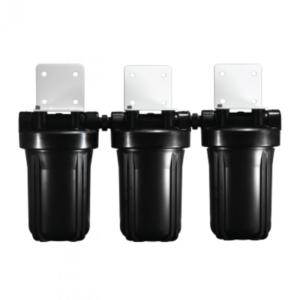 Osmio 4.5 x 10 Inch Triple Full Flow Water Filter Housing
