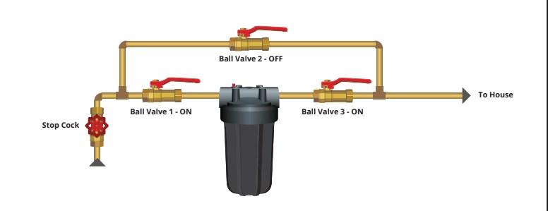 Whole House filter bypass arrangement