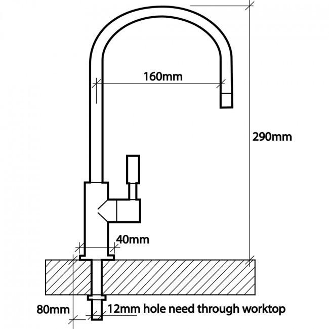 Swan 304 Stainless Steel Single Dispensing Tap