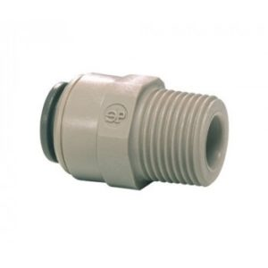 "3/8"" Push fit to 1/2"" straight male adapter"
